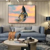 lord shiva canvas art paintings hindu gods wall art home canvas art prints hinduism art pictures for living room decor