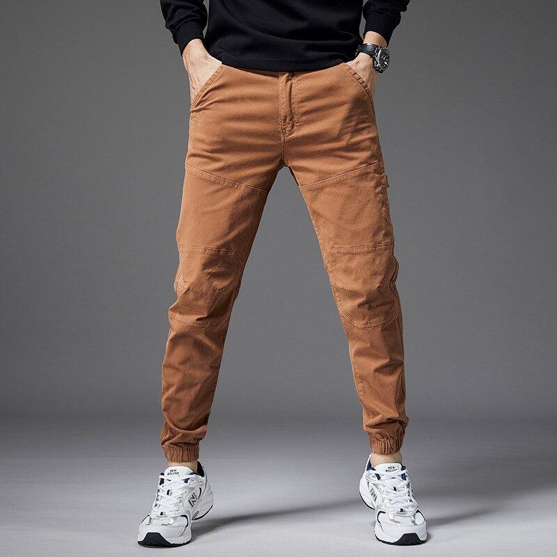 بنطلون كارجو رجالي ، جينز مستقيم ، غير رسمي ، ملابس الشارع ، الركض ، خريف 2021