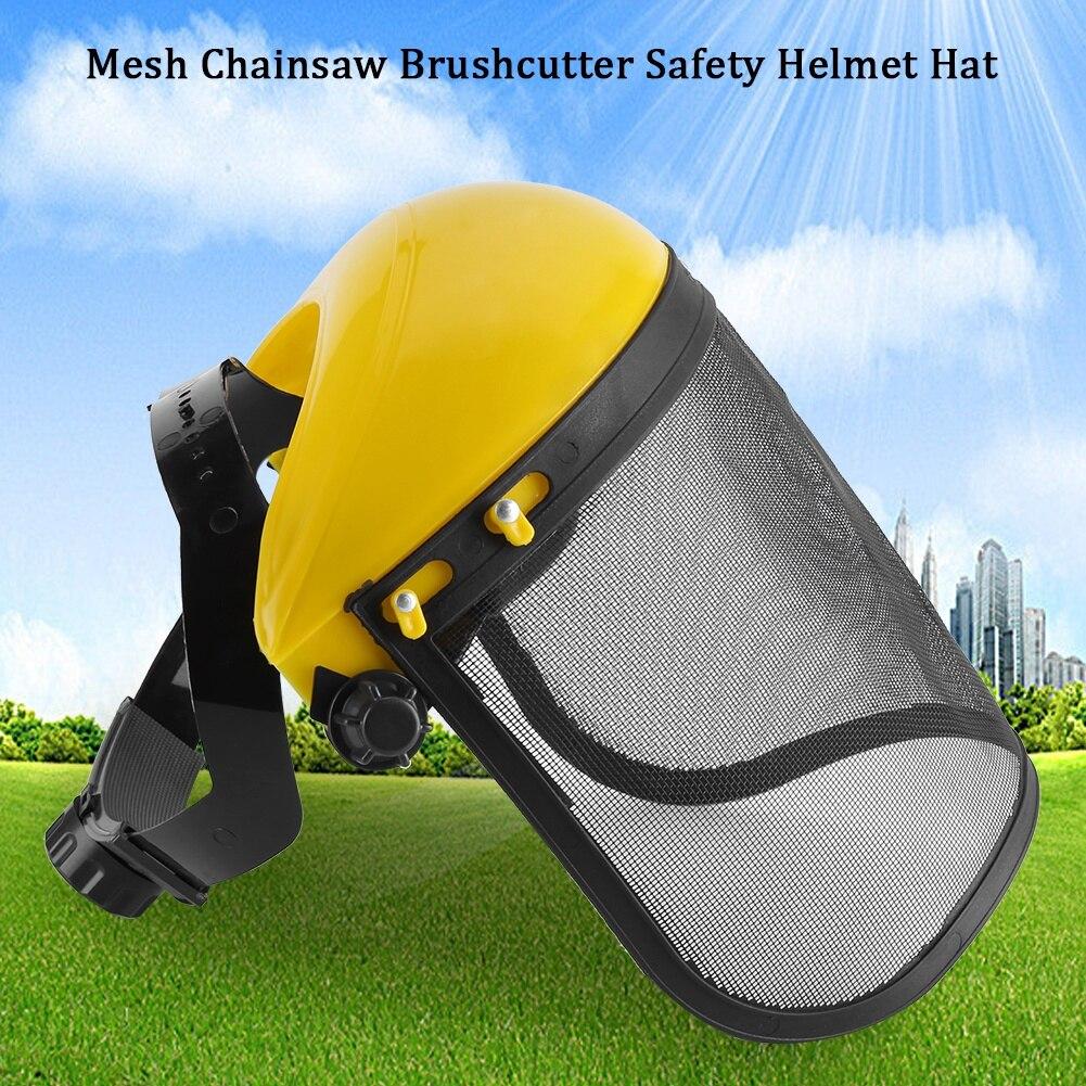 1 ud. Cortadora de césped para jardín casco de seguridad con visera de malla de cara completa para corte de cepillo de registro protección forestal