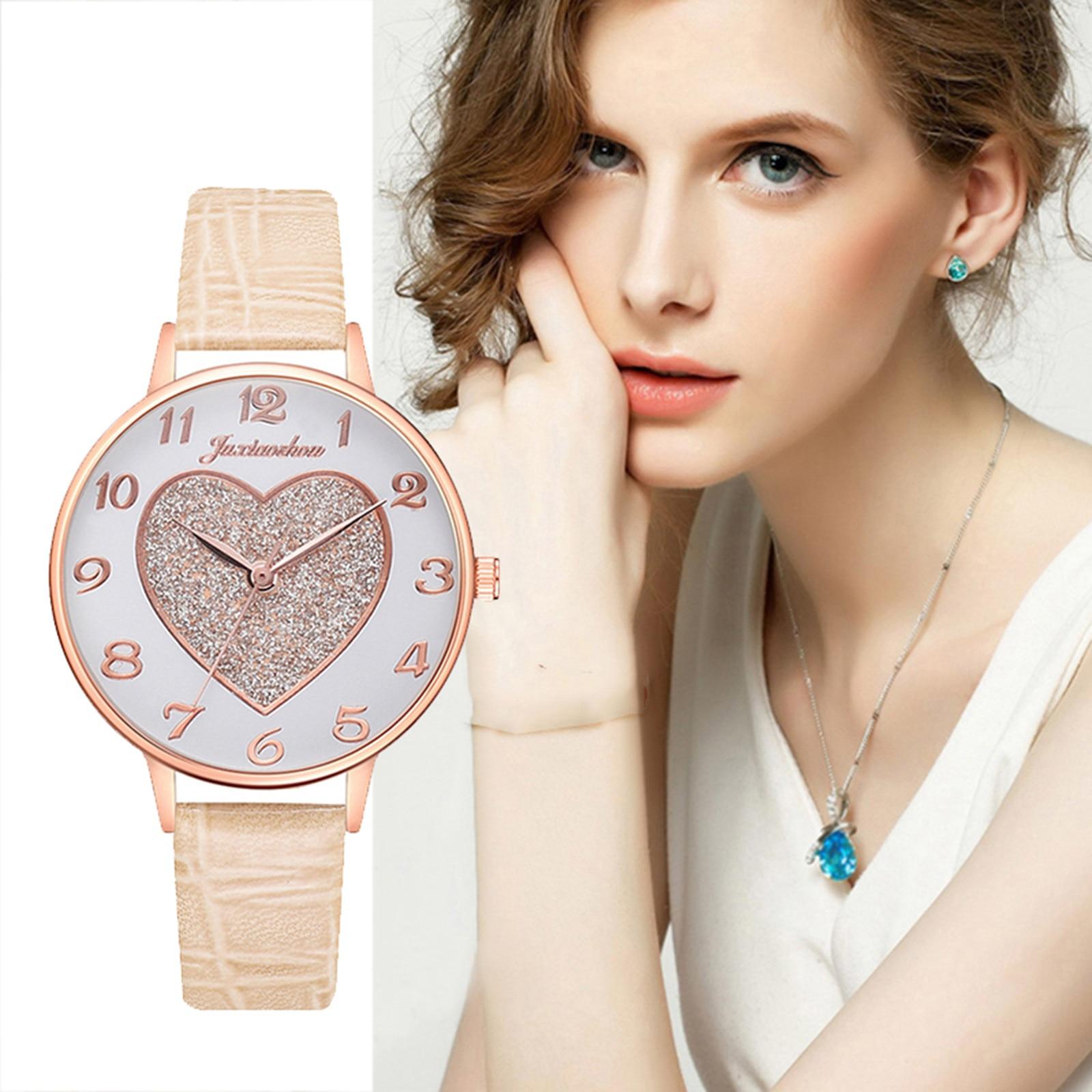 Simple temperament belt watch dial ladies quartz watch Sleek Minimalist Fashion With Strap Dial Wome