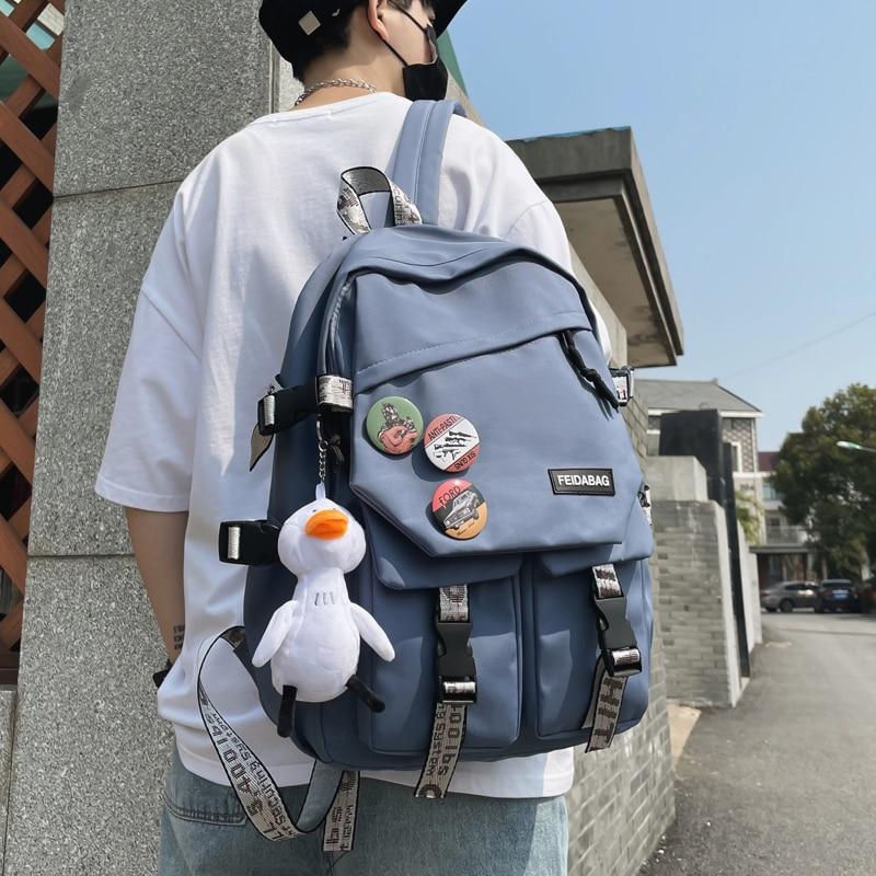 Школьный портфель для мальчиков младшей и старшей школы в стиле Харадзюку, модный рюкзак для учеников средней и старшей школы
