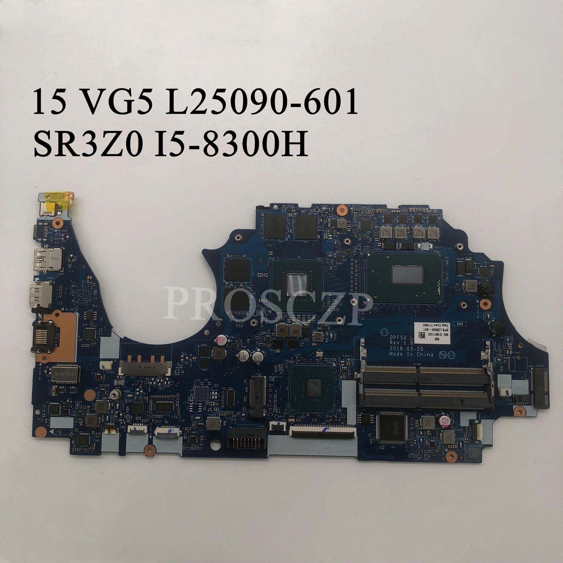 PARA HP 15 L25090-601 com SR3Z0 I5-8300H N18M-Q3-A1 VG5 Laptop motherboard 100% de trabalho bem
