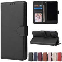 Leather Case Protect Cover For iPhone 12 11 Pro Max 12 Mini X XR XS Max 7 8 6 6s Plus 5 5s SE 2020 Stand Coque Flip Wallet Funda