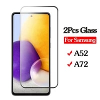 2pcs original protective glass for samsung galaxy a52 a72 tempered glass film on samsun a 52 a52 a 72 a72 screen protector glas