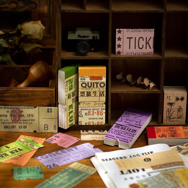 VanYi 50 sztuk 4 wzory uwaga muzeum list cyfrowy Scrapbooking tworzenie kartek pisanie pamiętnika DIY dekoracji Hangtag z kartą