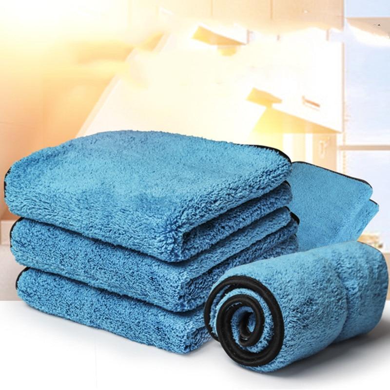 Впитывающее полотенце из микрофибры Полотенца для мытья машины Стекло Кухня очистки утолщенной автохимия коралловый флис полотенце Автом...