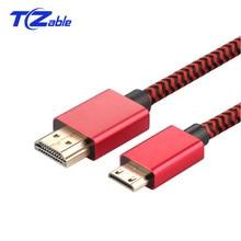 HDMI To MINI HDMI кабель 2,0 v 4K 60 Гц высокой Скорость позолоченный штекер кабель HDMI для Камера Монитор Проектор Тетрадь