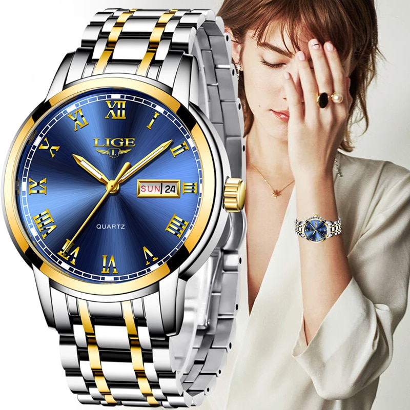 LIGE Japan Quartz Women's Watch Fashion Female Wristwatch Switzerland Luxury Brand reloj mujer Waterproof Women Bracelet Watch enlarge