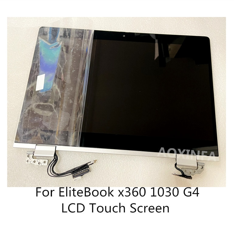 شاشة LCD تعمل باللمس مقاس 13.3 بوصة FHD لـ HP EliteBook x360 1030 G4 ، تجميع كامل بمفصلات فضية