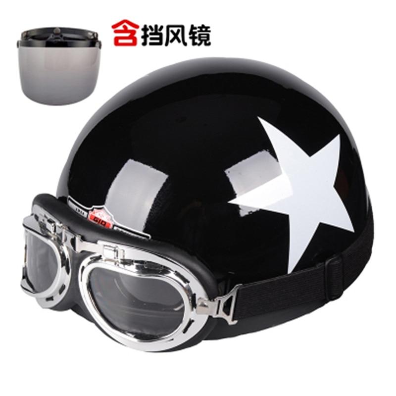 Capacete, moto Helm moto rcycle helm hälfte helm elektrische moto rcycle Anti-Uv Nette Leder helm casque moto kreuz