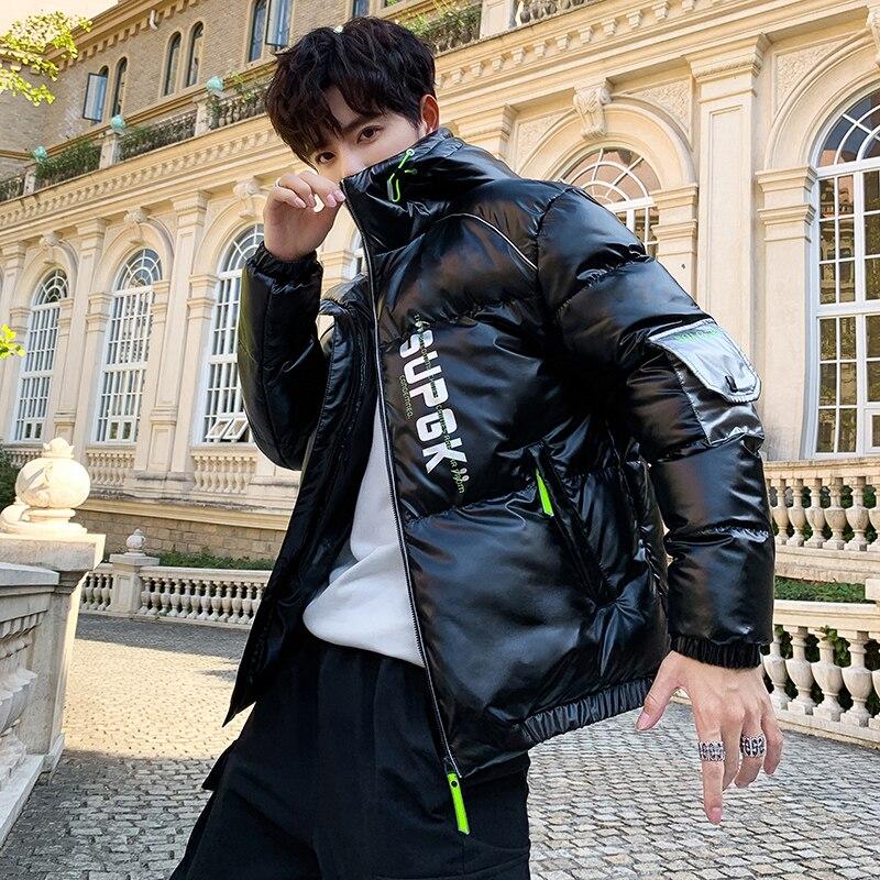 Shiny Winter Coat Men 2020 New Casual Thicken Parka Outwear Waterproof Warm Coat Plus Size
