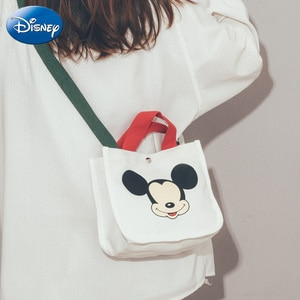 Disney Polyester New Large-capacity Bag Mickey Mouse Female Tide Fashion Wild Messenger Bag Cute Student Party Shoulder Bag