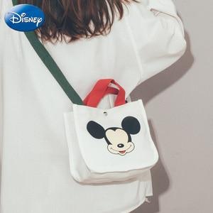 Новая вместительная сумка Disney из полиэстера, женская модная сумка-мессенджер с Микки Маусом, милая сумка через плечо для студентов и вечери...