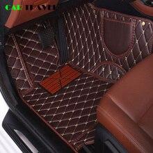 Esteira do assoalho do carro de couro Personalizado Para renault megane logan 2 captur kadjar fluence scenic koleos laguna Espace acessórios tapete