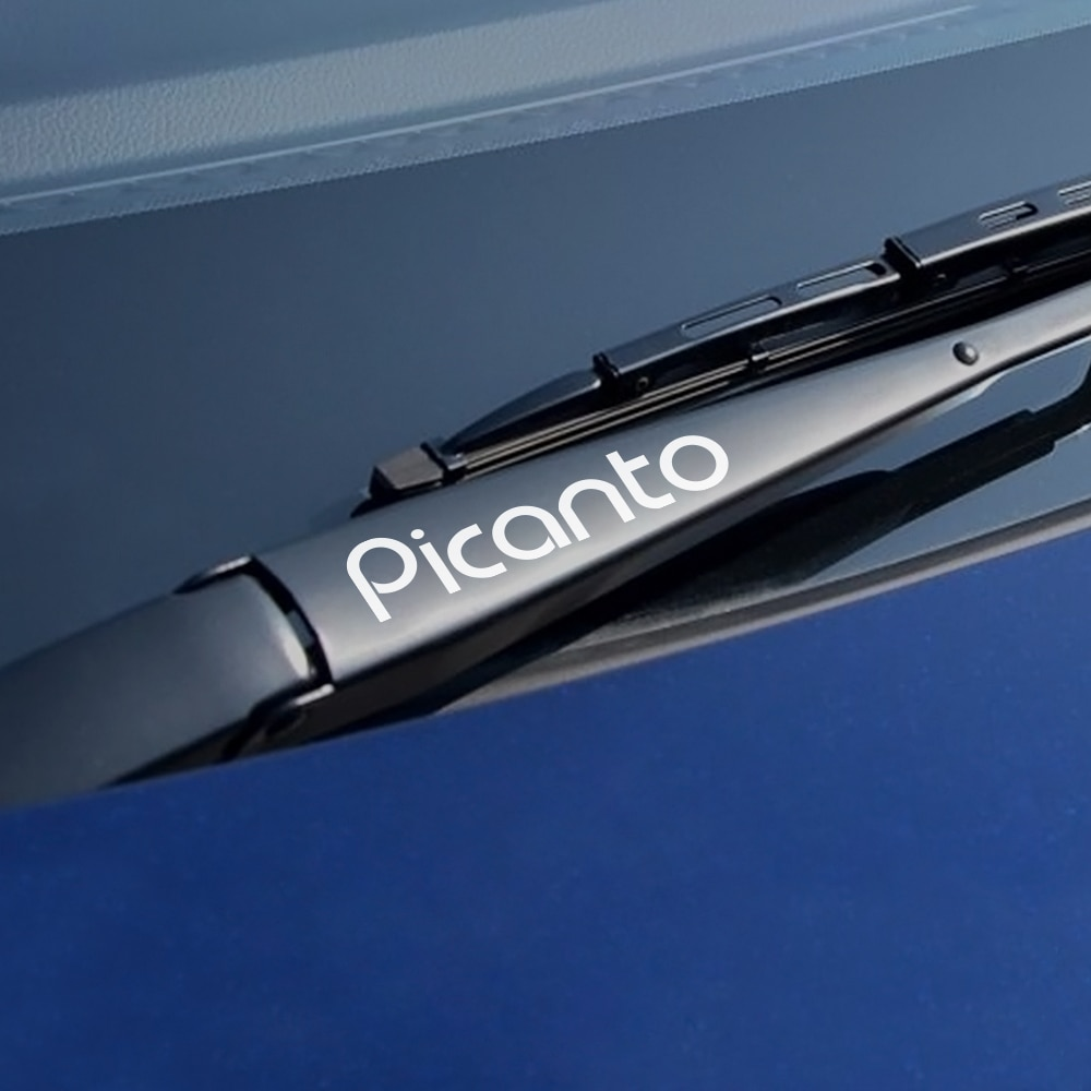 4 unids/bolsa de limpiaparabrisas de vinilo pegatinas de decoración para Kia Picanto, limpiador de coche deportivo, pegatinas impermeables para accesorios de coche