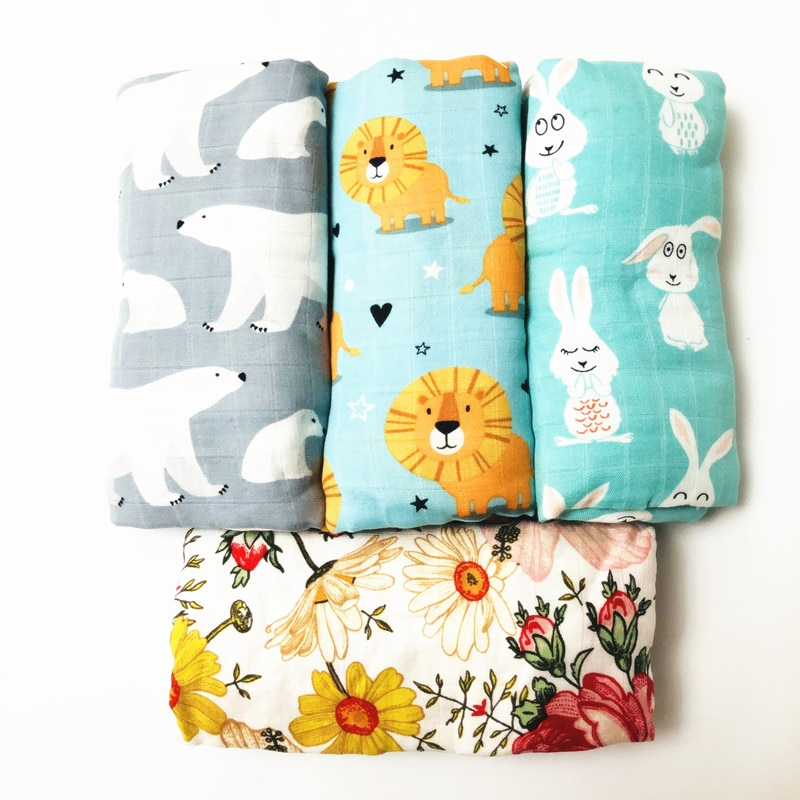 blanket 70% bamboo baby swaddle baby muslin blanket quality better than Aden Anais Baby Multi-use big diaper Blanket Infant Wrap