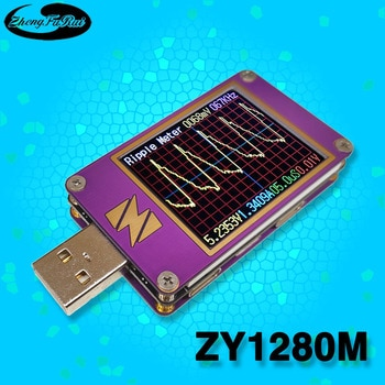 ZY1280M oscilloscope USB voltage current capacity tester ripple fast charge protocol PD3QC4SCPPSVOOC