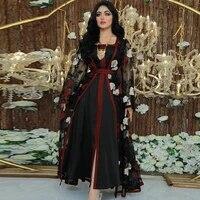 pakistani clothing embroidery noble muslim women dress retro ramadan plus size long skirt saudi arabia islamic evening dress