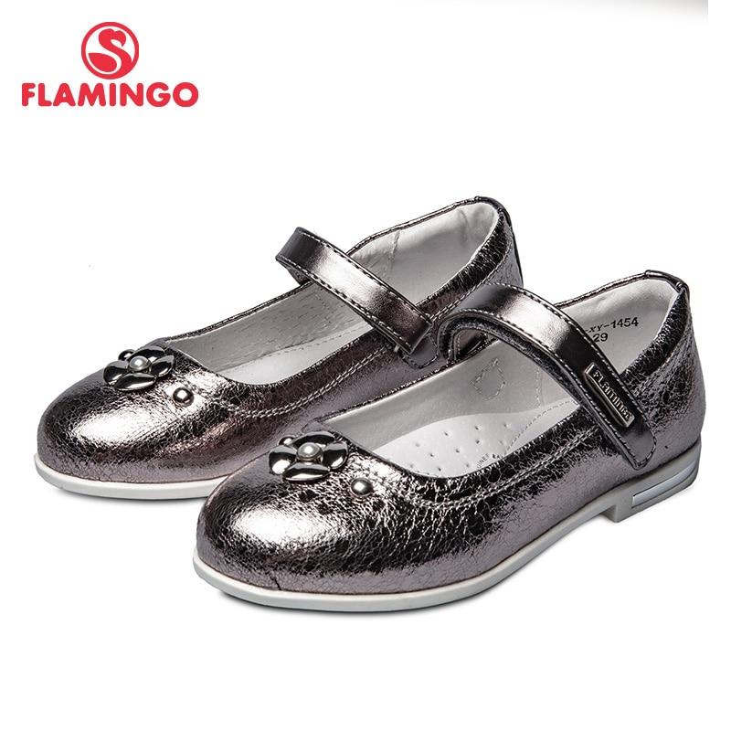 Zapatos escolares flamencos 92T-XY-1454/55 zapatos para niñas zapatos de suela de cuero para niños 26-31 #