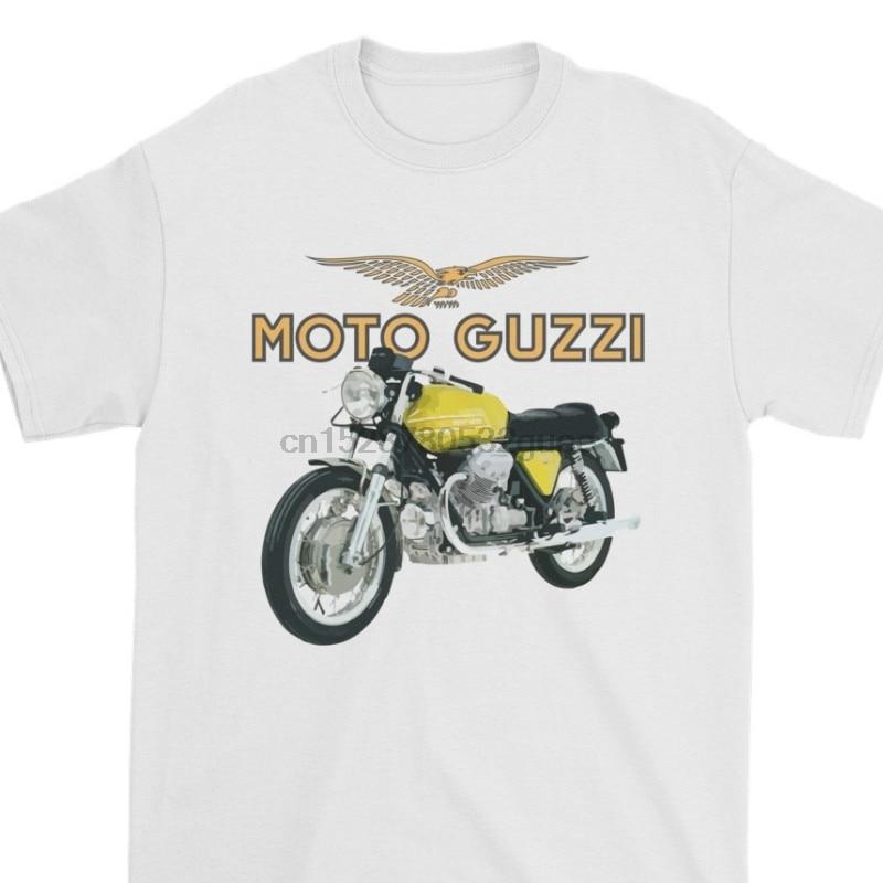 Divertida camiseta blanca para hombre, camiseta, camiseta negra, detalles geniales sobre Moto Guzzi V7T, camiseta Vox acelerador