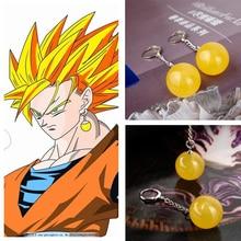Dragon Ball Z Drop Earrings Takerlama Dragonball Vegetto Potara Earrings Son Goku Zamasu Earrings for Women Men Jewelry