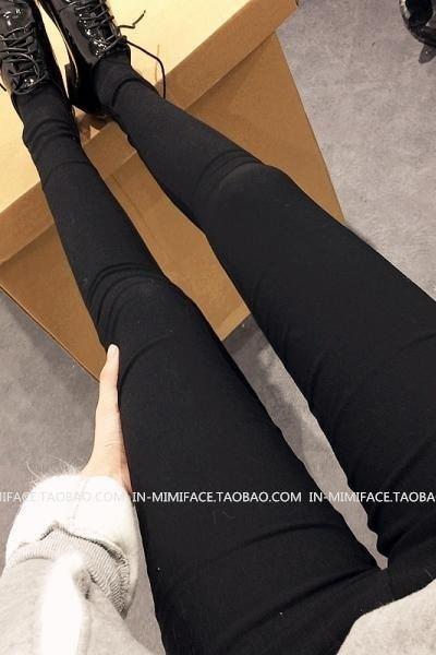 Official Website Black Leggings Women's Pants Outerwear Autumn Wear