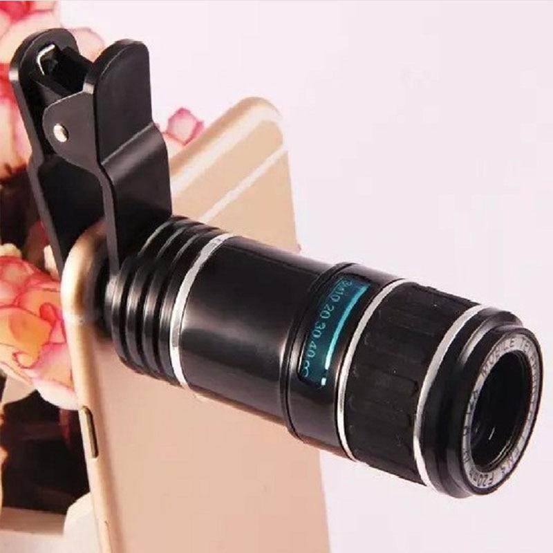 Universal Clip Auf 12X Zoom Tele Teleskop Telefon Foto Objektiv Linsen Huawei Mate 30 30 Pro Xs 20 20 Pro 20 X RS 10 Pro 10