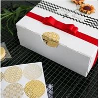 90pcslot dia 4cm round hot foil gold seal sticker transparent pattern series diy multifunction gift label baking sticker christ