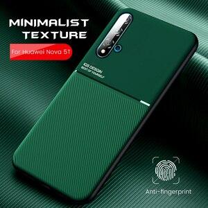 car magnetic holder cover for huawei nova 5t nova5t case slim matte on hauwei nova 5 t silicone shockproof coque yal-l21 6.26''