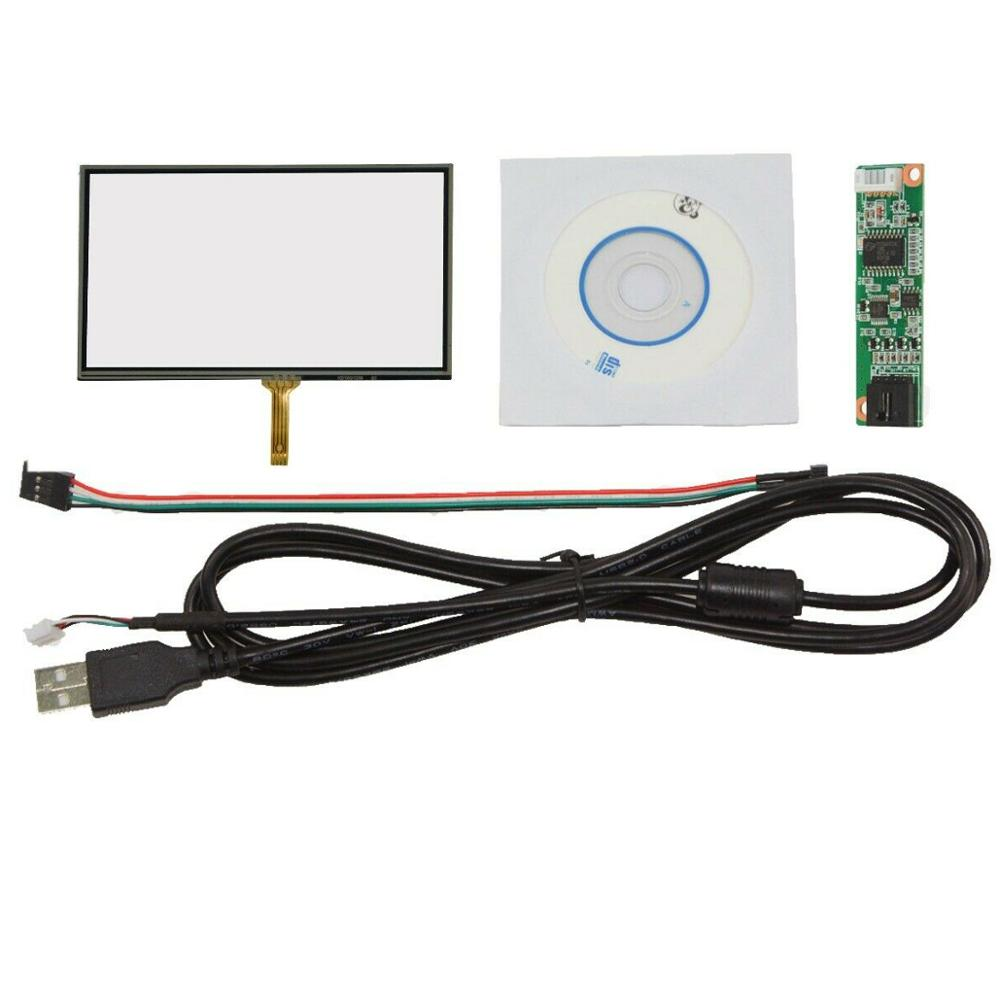 5 pulgadas 4 cables Panel táctil resistivo vidrio 119mm x 73mm tarjeta USB para HSD050IDW1