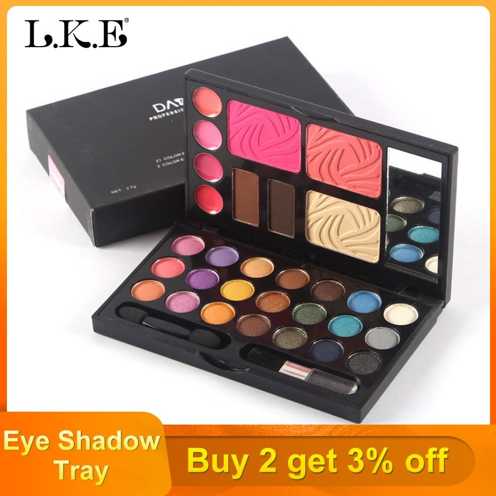 LKE Make Up Tool Kit 33 in 1 Make Up Cosmetics Including Eye Shadow Blush Powder Lip Gloss 3 With Makeup Box Makeup Set