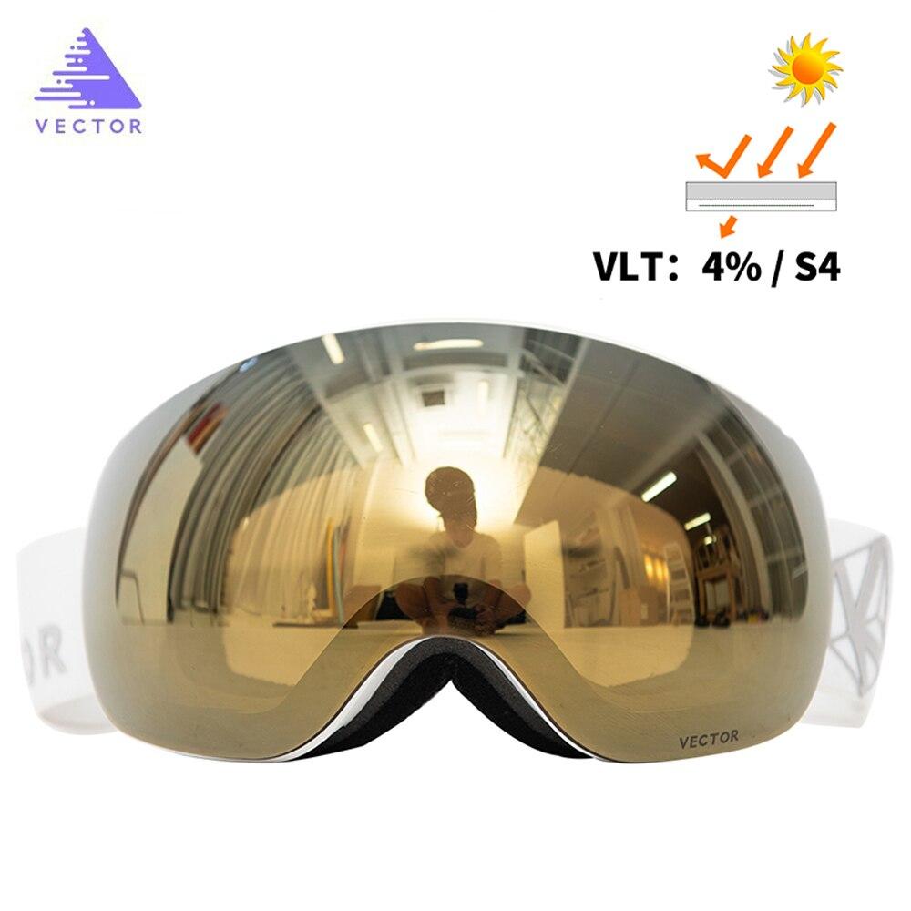 Vetor магниты OTG лыжные очки UV400 Сноуборд Снег очки Анти-туман Сменные в объектив и сферические широкий вид солнцезащитные очки