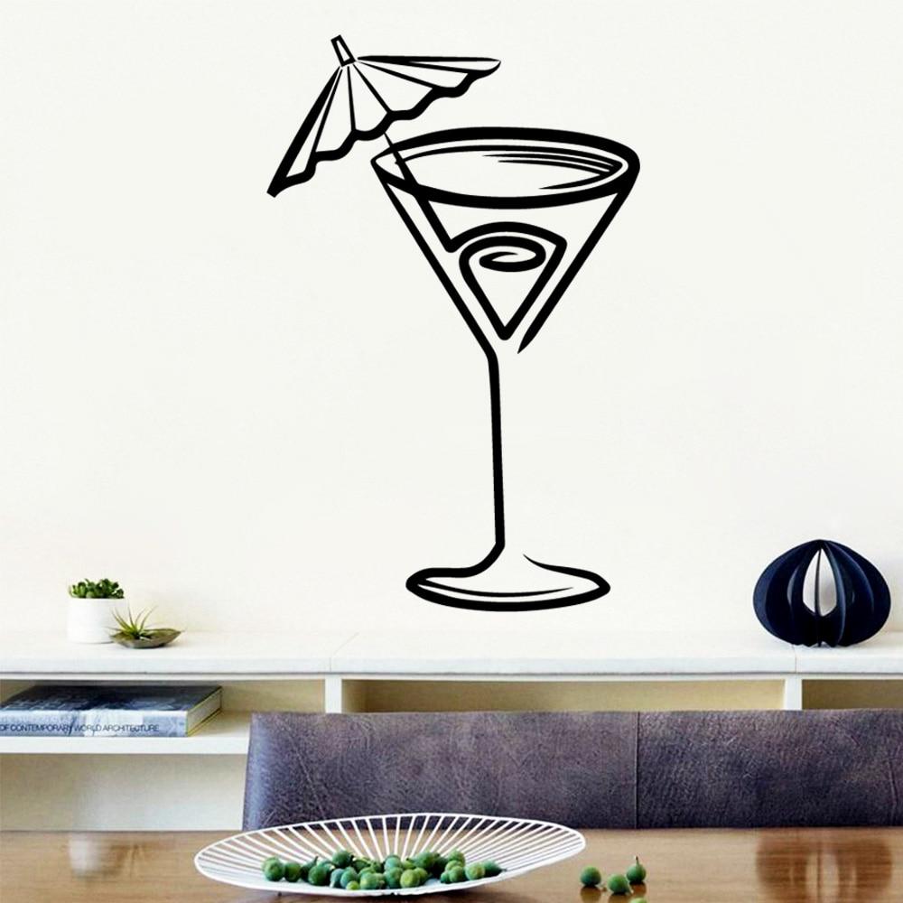Pegatinas de pared artísticas para bebidas, Vinilo Decorativo para el hogar, accesorios...