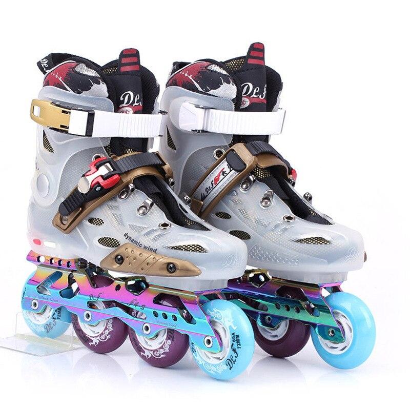 Профессиональные роликовые коньки, женская обувь с 4 колесами, для начинающих, роликовые коньки, тренажер для фитнеса, BI50SS