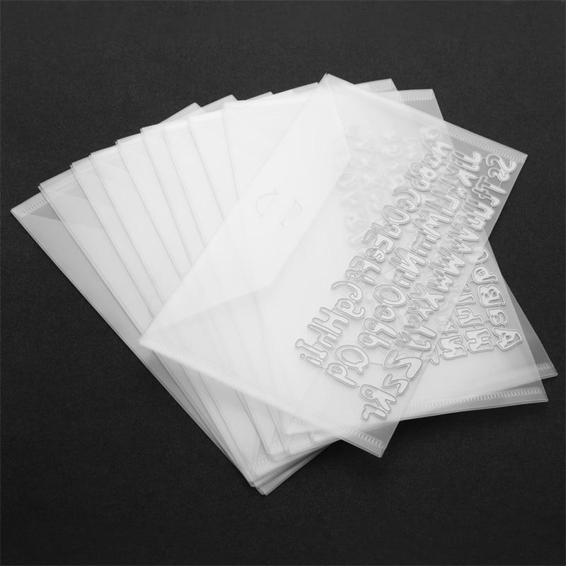 10Pcs/Set Bigger Stamp&Die Storage Pokets 15x25.2cm PVC Plastiv Sheet Transparent Large Storage Pockets For Dies Stamps Collect