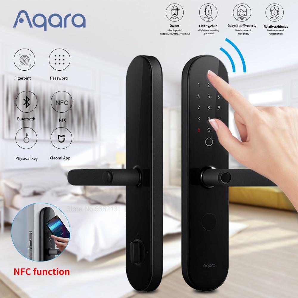 Review Aqara N100 Smart Door Lock Fingerprint Password Unlock Bluetooth-compatible Works For Apple HomeKit Smart Linkage With Doorbell