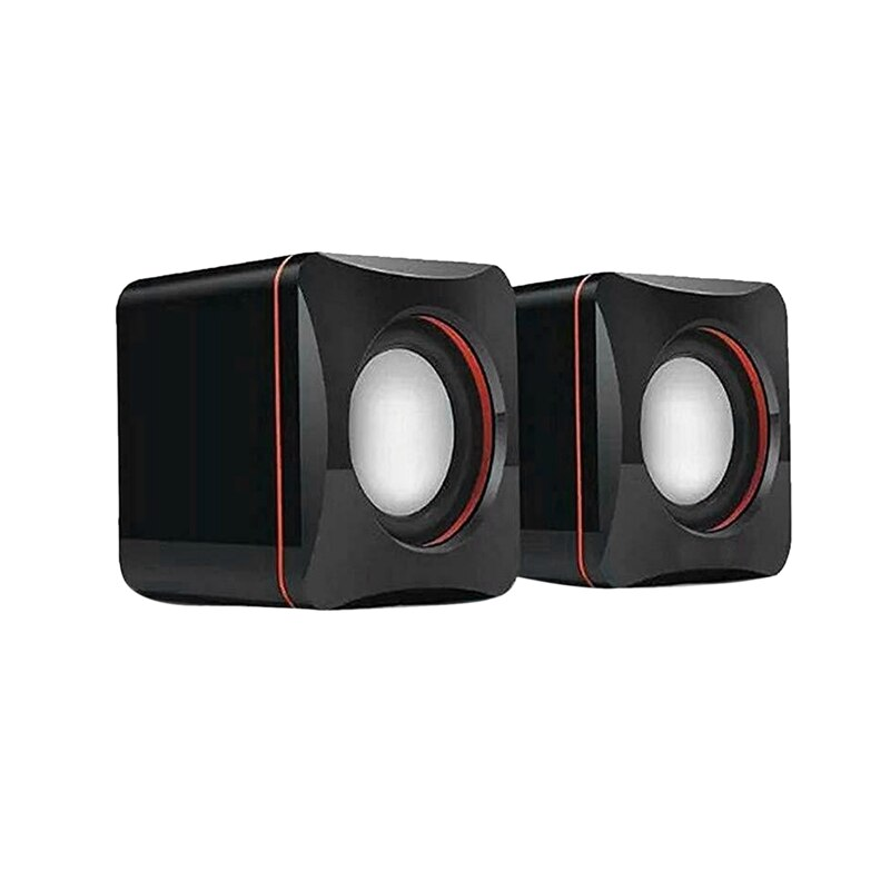Portable Computer Speakers USB Powered Desktop Mini Speaker Bass Sound Music Player System Wired Sma