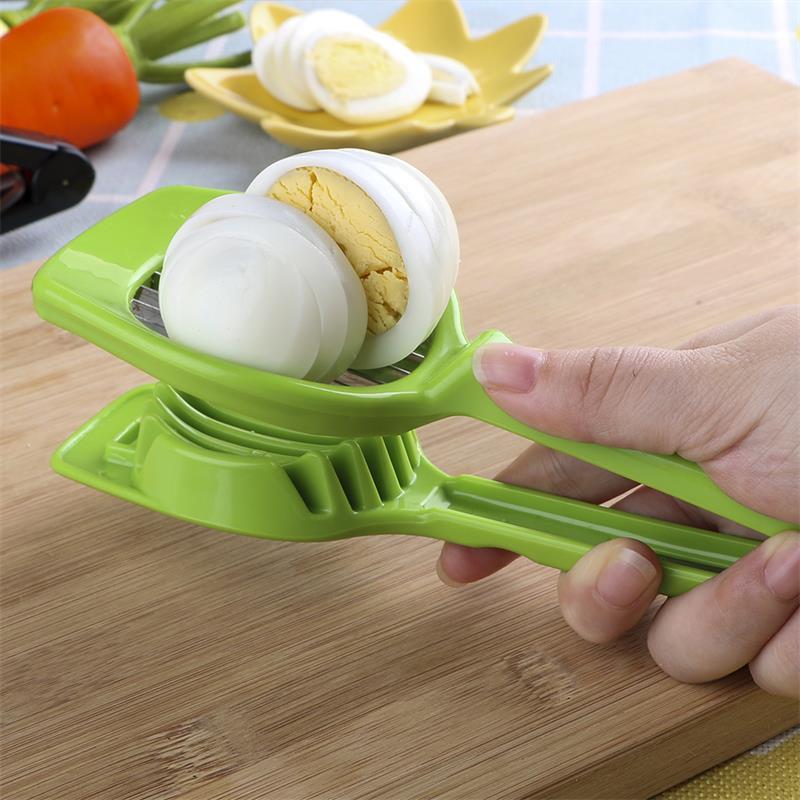 Divisor portátil de acero inoxidable, cortador de tomate, dispositivo de separación de huevo, molde para rebanar huevos, rebanador, cortador de setas multifunción para Cocina