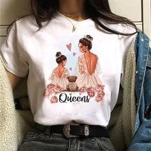 Summer Girl Mom T shirt Women Love Print Black T-shirt Harajuku Mama Tee Femme Y2k Shirt Kawaii Sexy