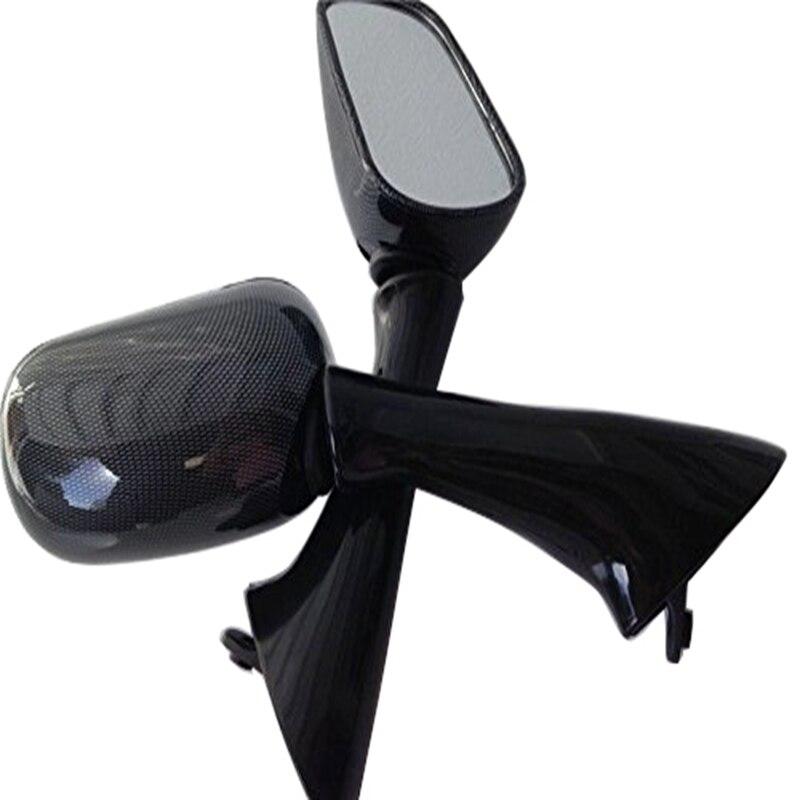 Aftermarket frete grátis peças da motocicleta substituição de corrida espelhos para honda cbr 600 f2 f3 900 rr cbr1000f vfr800f carbono