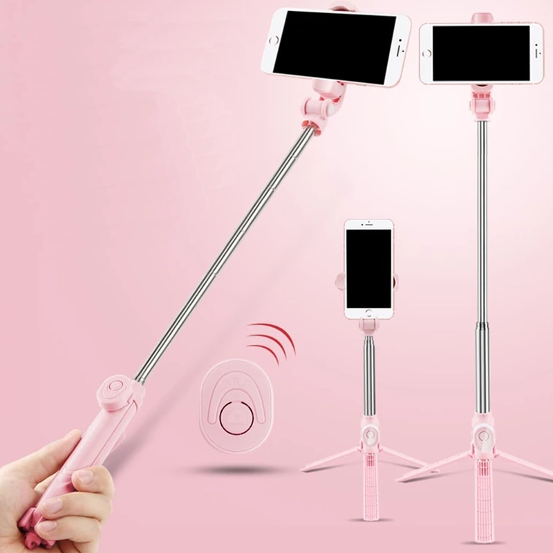 Wireless Bluetooth Selfie Stick Tripod With Remote Control for iPhone Huawei Samsung Android Mobile Monopod Selfie Stick Shutter