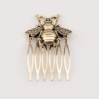 ancient style hair clip ponytail holder hot retro alloy comb bee hair comb woman headwear hair accessories