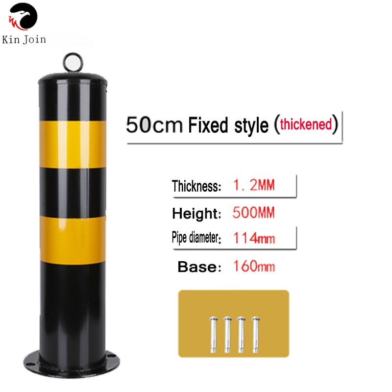 Demolition Type Steel Pipe Column Anti-Collision Column Square Parking Lot Warning Column Thickened Protective Parking Space