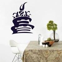 Autocollant Mural pour gateau doux doux   Autocollant Mural pour decoration de cuisine cafe  papier peint dinterieur  decoration de maison  affiche de decoration pour chambre denfants