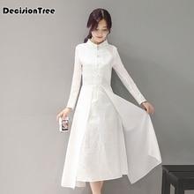 2020 mujeres retro vestido tradicional chino seda algodón cheongsam mujer señora broadcloth boda casual qipao chino vestido qipao