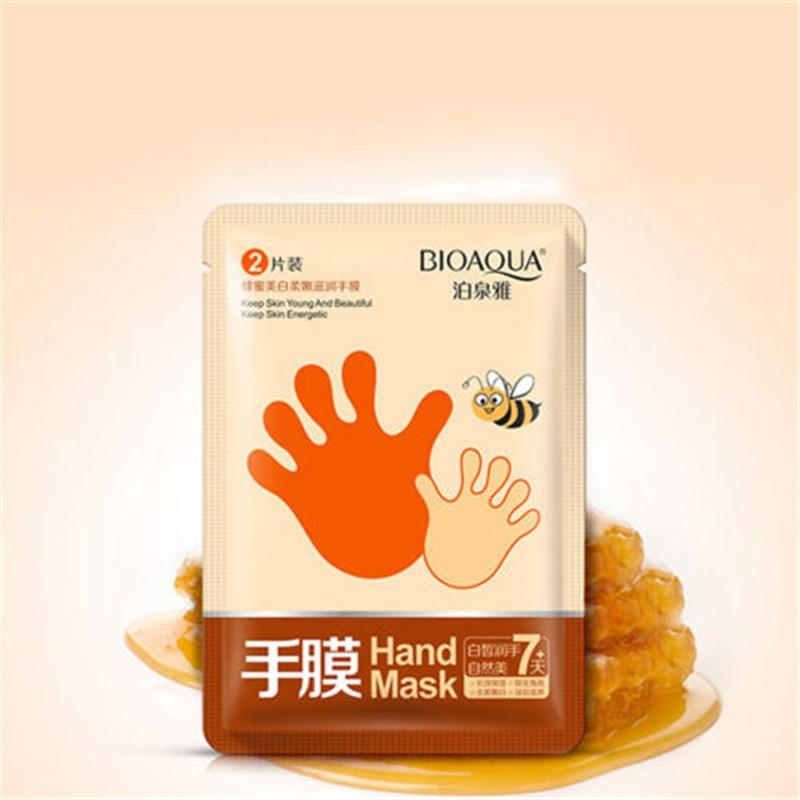 Increíble Baby mano cuidado de la piel Spa miel eliminar la piel muerta dura blanqueamiento Peeling mascarilla