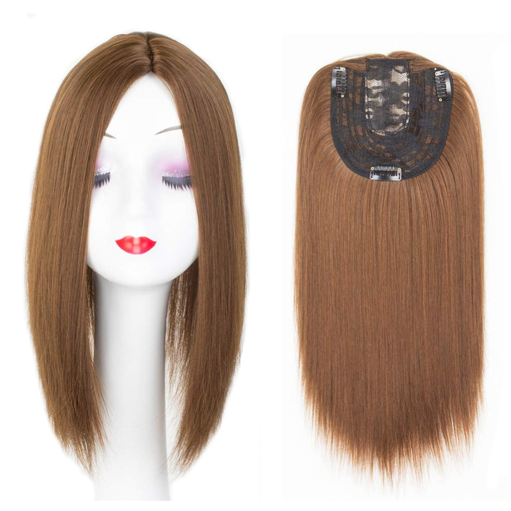 Women Synthetic Hair Pieces 3 Clips In One Piece Hair Extension Long Straight High Temperature Fiber for Lady