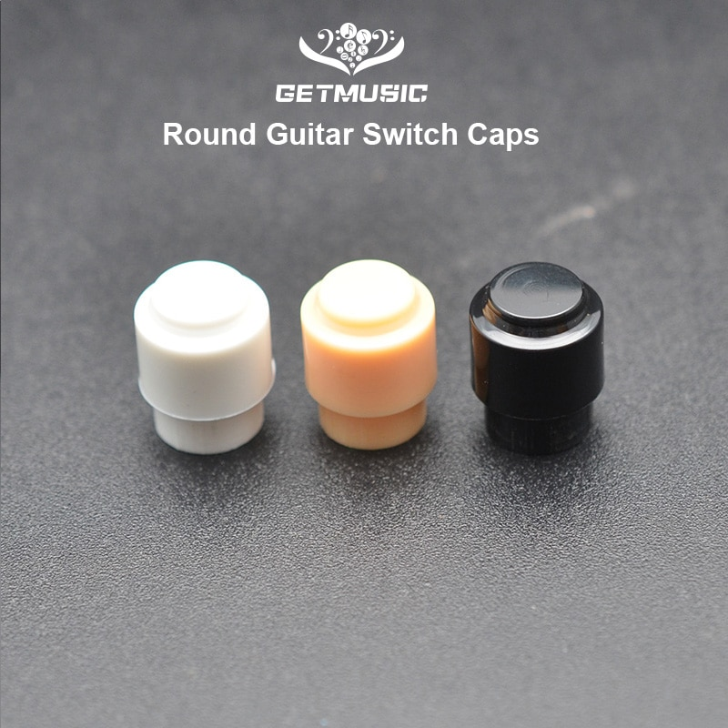 60 uds Muilty Color 3way 5way guitarra de plástico interruptor grande sombrero para guitarra eléctrica