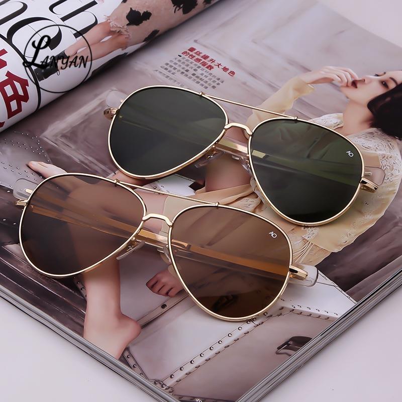 Aviation  Sunglasses Men women 2021 brand American Army Military Optical AO pilot driving glasses po