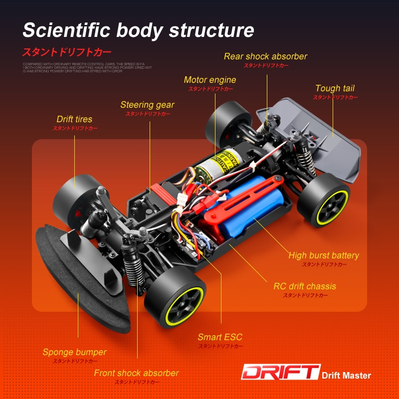 2.4G Racing RC Car 30KM/H 4WD Electric High Speed Car Off-Road Drift Remote Control Toys for Children  rc car 4wd enlarge